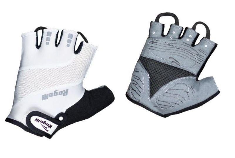 Cyklistické rukavice Rogelli PHOENIX, biele 006.013. M