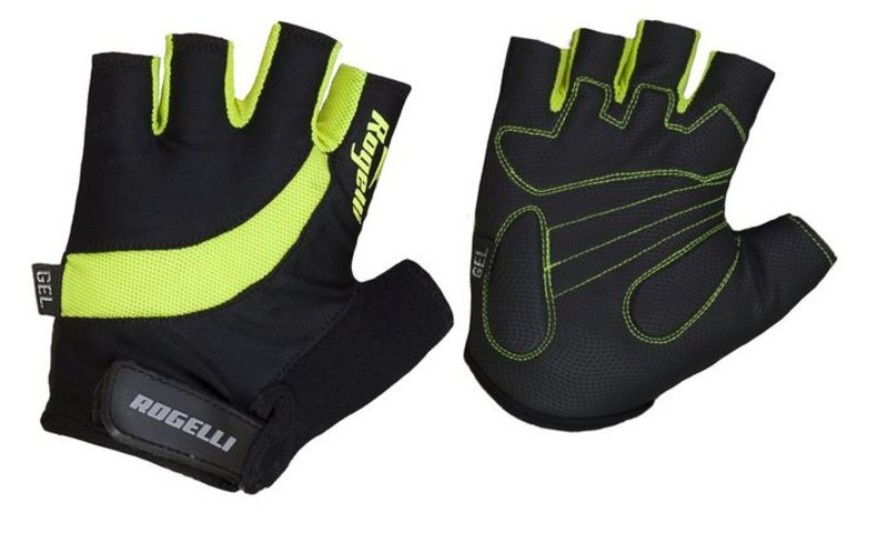 Cyklistické rukavice Rogelli STRADA, reflexná žlté 006.352. XL
