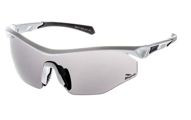 Cyklistické športové okuliare Rogelli SPIRIT s výmennými sklami, biele 009.241.