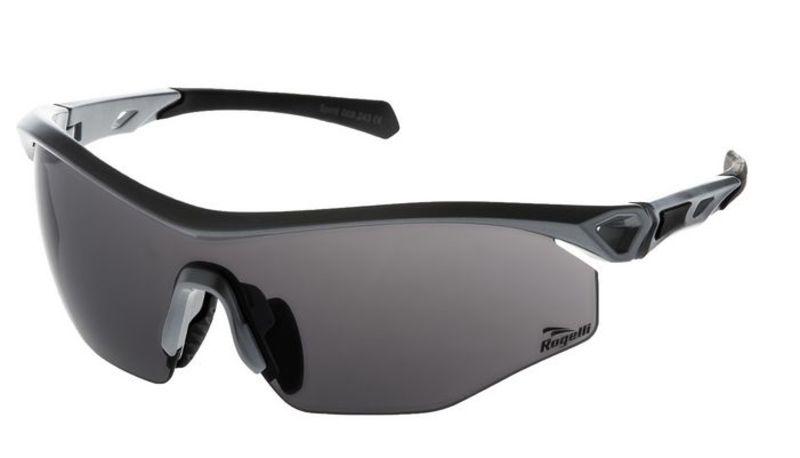 Cyklistické športové okuliare Rogelli SPIRIT s výmennými sklami, šedé 009.243.