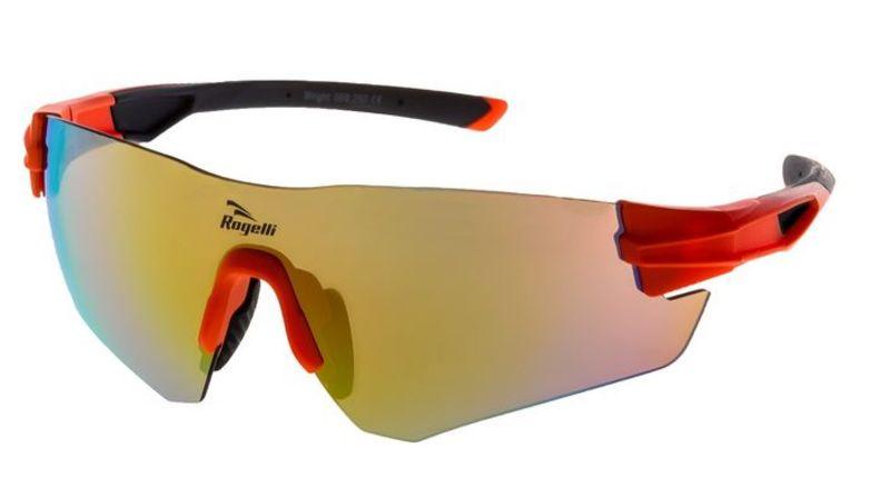 Športové okuliare Rogelli WRIGHT s výmennými sklami, oranžové 009.250.