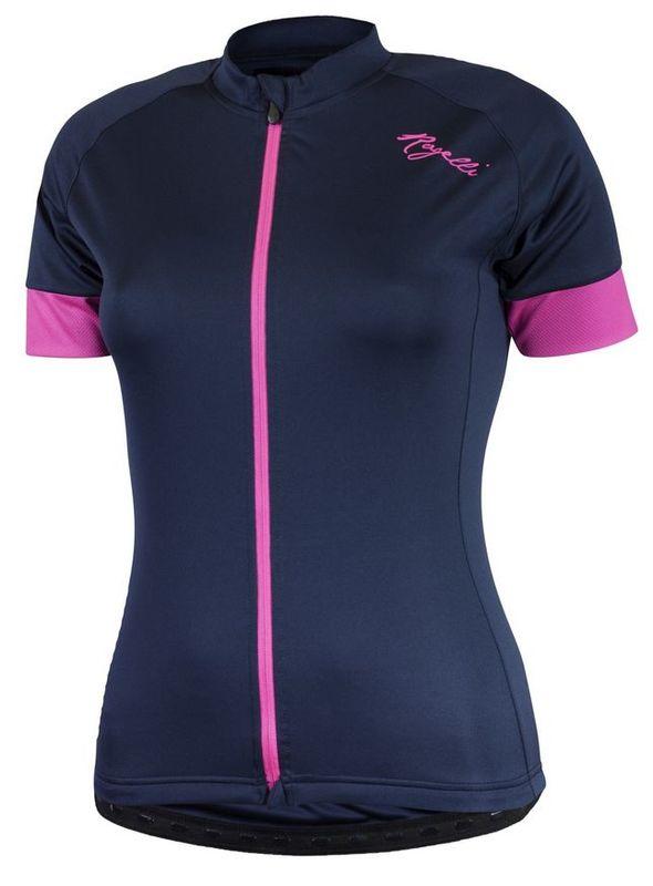Dámsky cyklistický dres Rogelli Modest s krátkym rukávom, modro ružový 010.111.