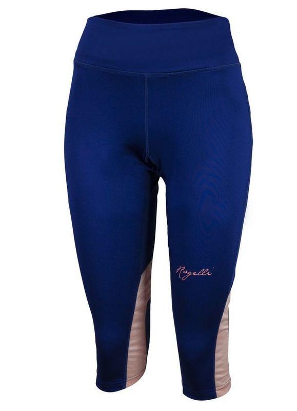 Dámske bežecké 3/4 kraťasy Rogelli DESIRE, modrá-ružový melír 840.764.
