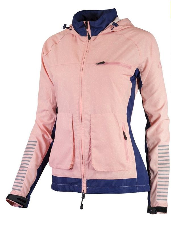Dámska bežecké bunda Rogelli DESIRE, modrá-ružový melír 840.865. S