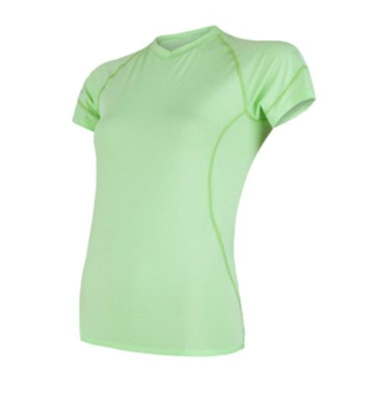 Dámske triko Sensor Coolmax Fresh kr.rukáv sv.zelená 18100026