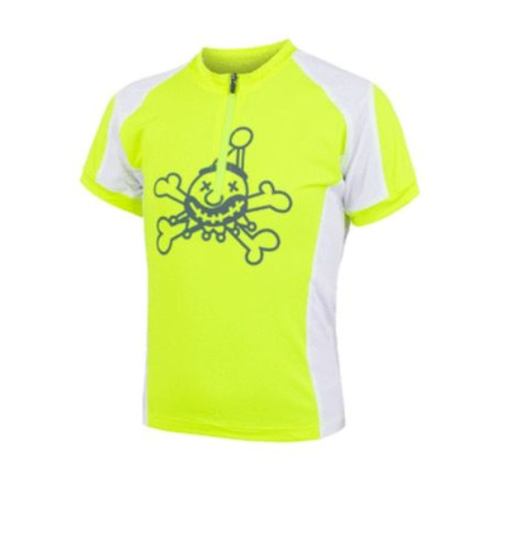 Detský cyklo dres Sensor CYKLO ENTRY dres kr.rukáv reflex žltá / biela 18100076