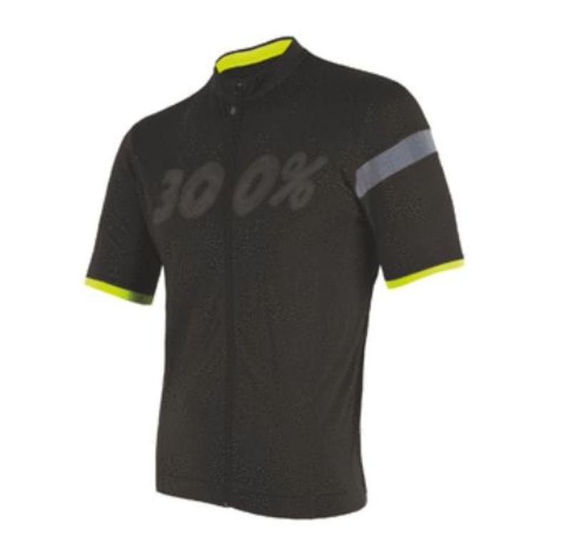 Pánsky cyklistický dres Sensor Cyklo Classic kr. rukáv celozip čierna 18100062