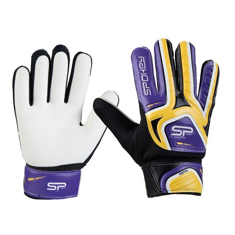 Spokey CATCH II brankárske rukavice žlto-fialové