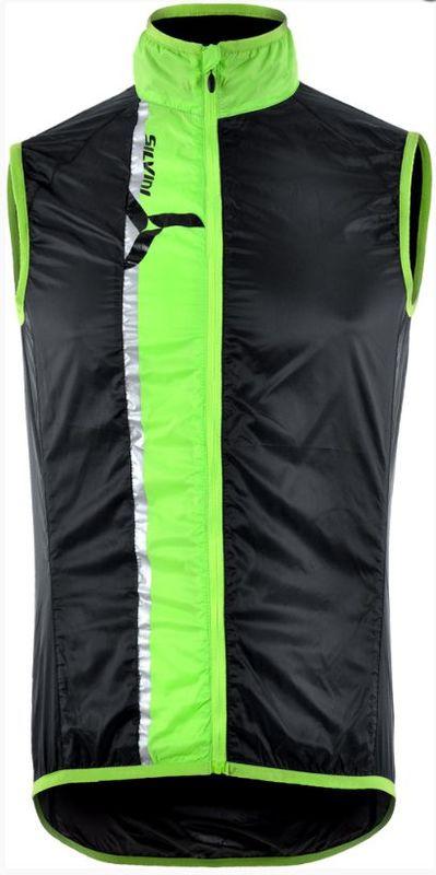 Cyklistická vesta Silvini GARCIA MJ803 green-black XXXL
