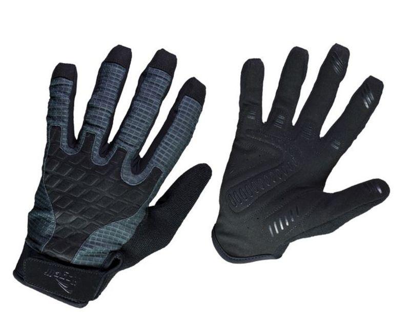 Ultraľahké cyklistické MTB rukavice Rogelli ADVENTURE, čierno-šedé 060.602. S