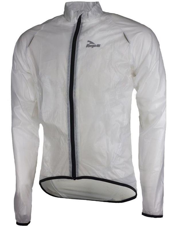 Ultraľahká detská cyklovětrovka Rogelli CROTONE odolná silnému daždi, transparentná 004.0190.