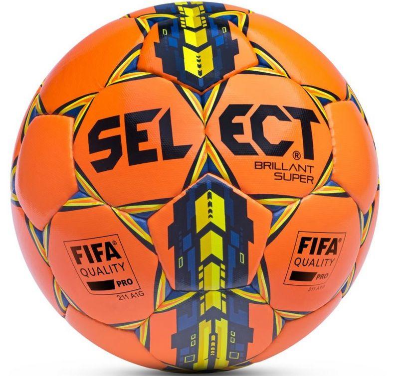 Futbalový lopta Select FB Brillant Super oranžovo žltá