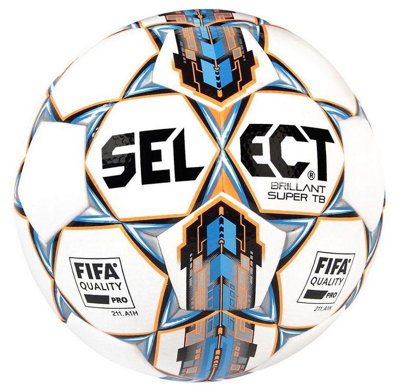 Futbalový lopta Select FB Brillant Super bielo modrá