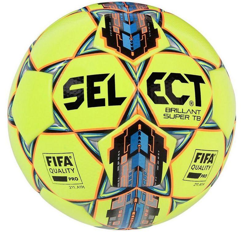Futbalový lopta Select FB Brillant Super žlto modrá