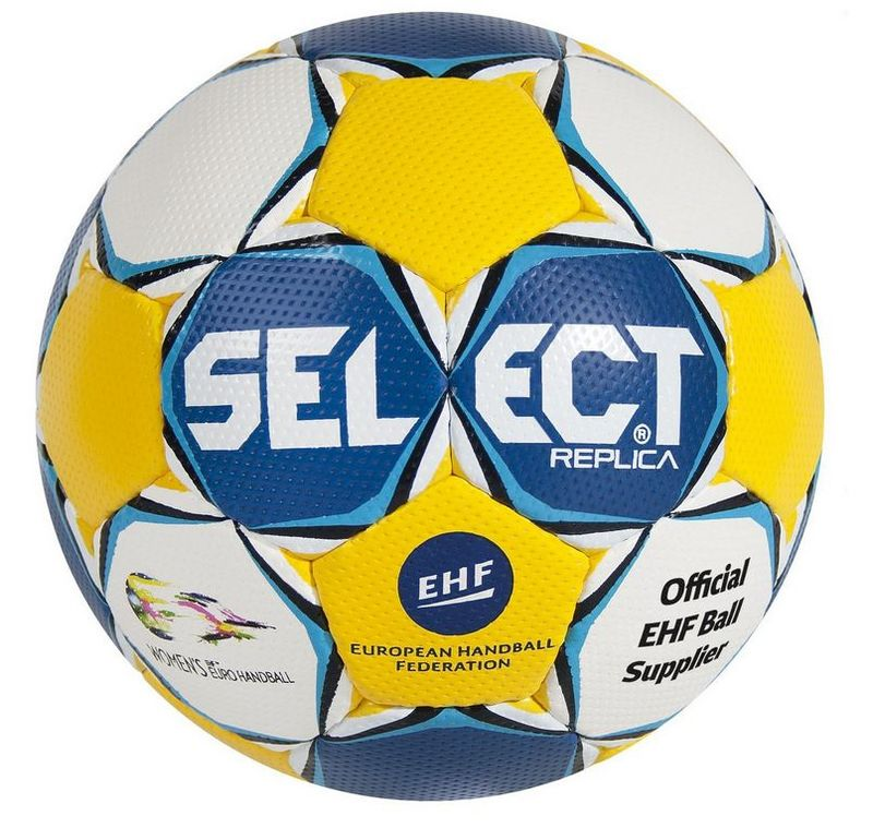 Hádzanárska lopta Select HB Ultimate Replica EC Sweden modro žltá