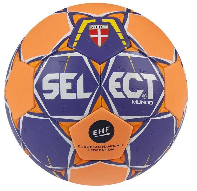 Hádzanárska lopta Select HB Mundo fialovo oranžová