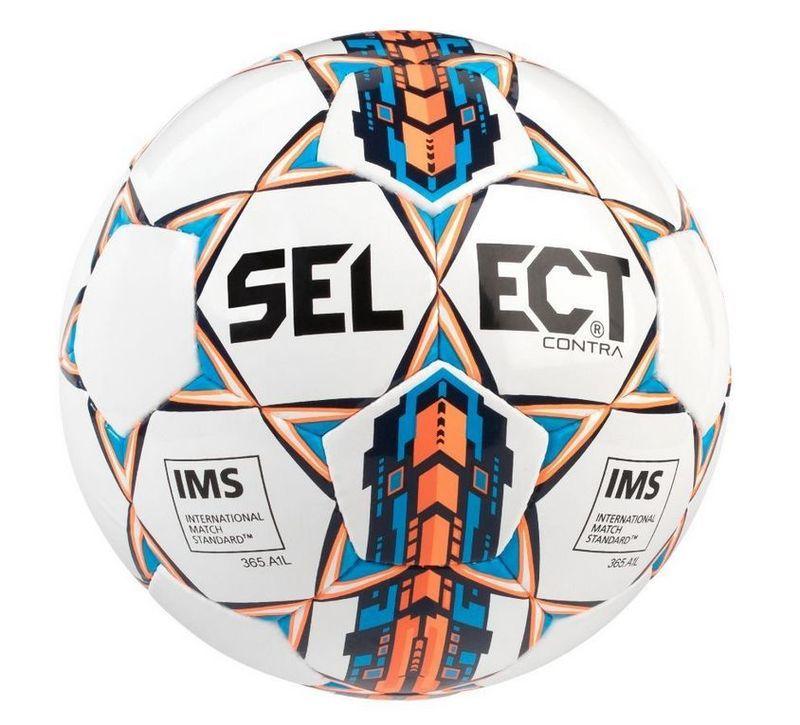 Futbalový lopta Select FB Contra biela oranžová
