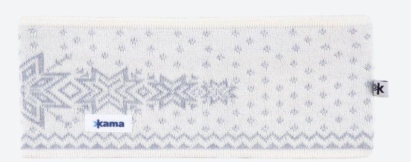 Pletená Merino čelenka Kama C41 101 prírodne biela