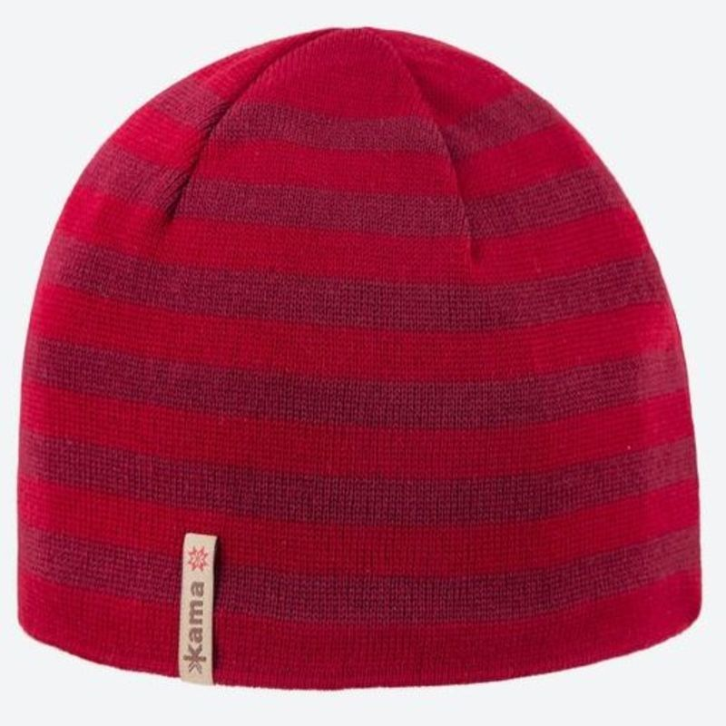 Pletená Merino čiapka Kama A122 104 červená