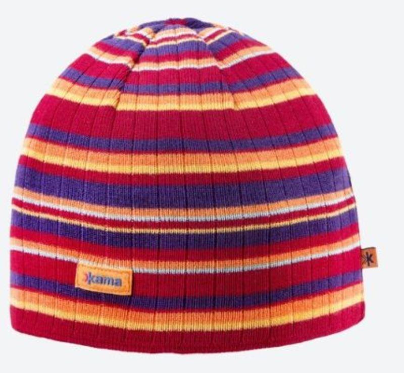 Pletená Merino čiapka Kama A129 104 červená