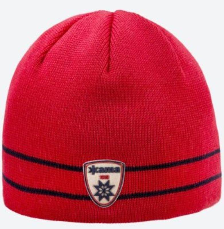 Pletená Merino čiapka Kama AG20 104 červená M