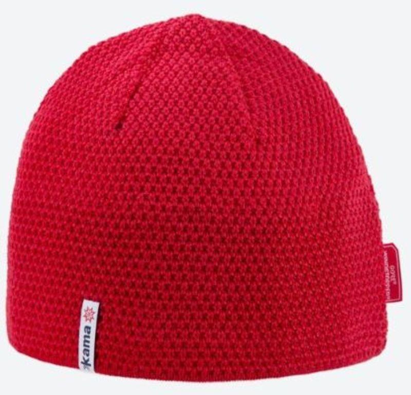 Pletená Merino čiapka Kama AW62 104 červená
