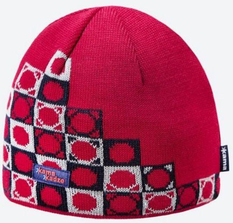 Pletená Merino čiapka Kama K57 104 červená