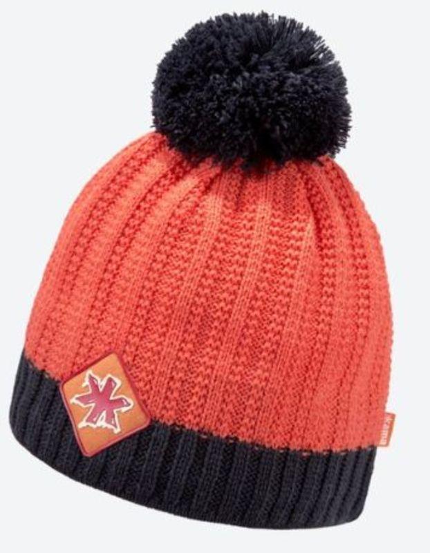 Pletená Merino čiapka Kama K59 103 oranžová