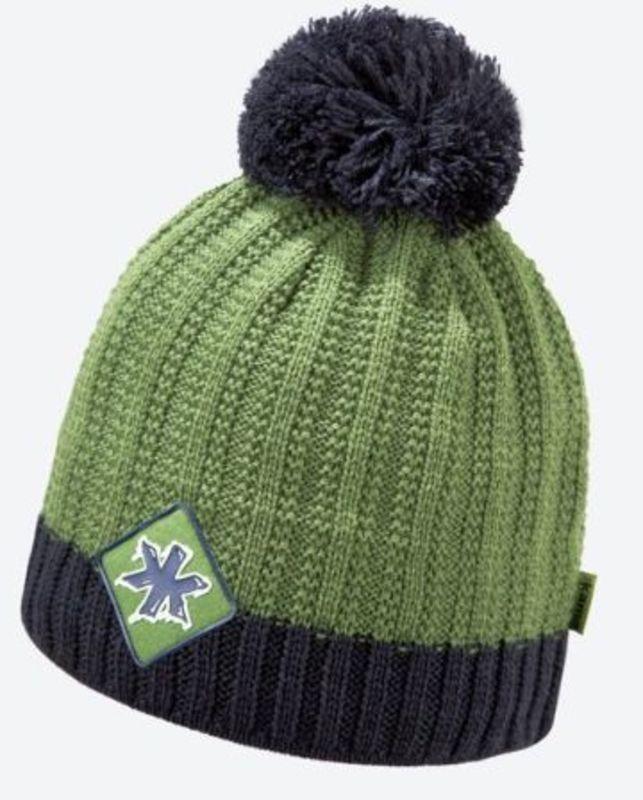 Pletená Merino čiapka Kama K59 105 zelená
