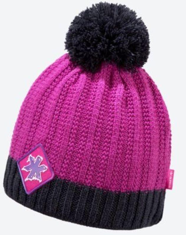 Pletená Merino čiapka Kama K59 114 ružová
