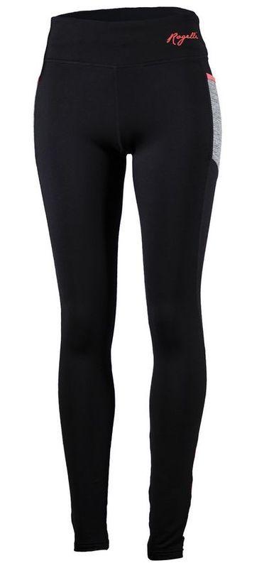 Dámske bežecké nohavice Rogelli Dynamic, 840.781. čierno-šedo-reflexná ružové