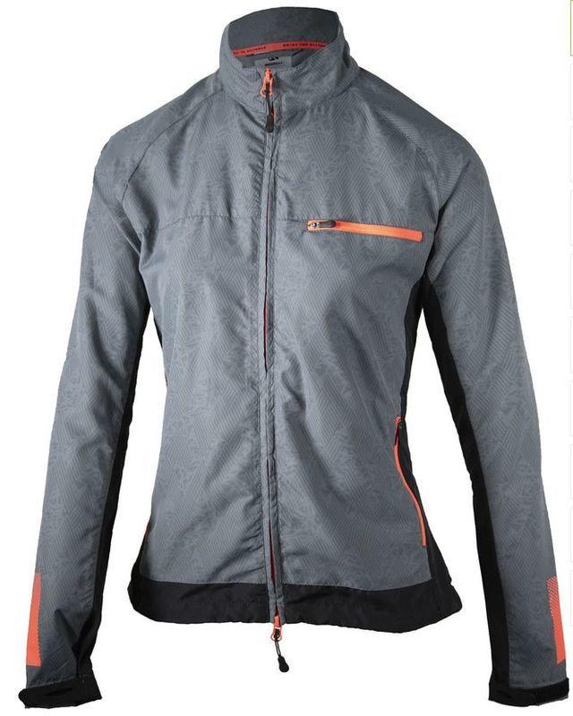 Dámska bežecká bunda Rogelli Dynamic, 840.881. čierno-šedo-ružová M