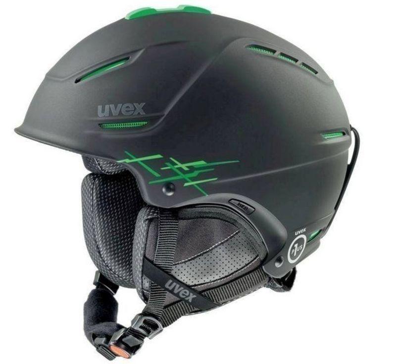 Lyžiarska helma UVEX P1US PRO, black-green mat (S566156270*)