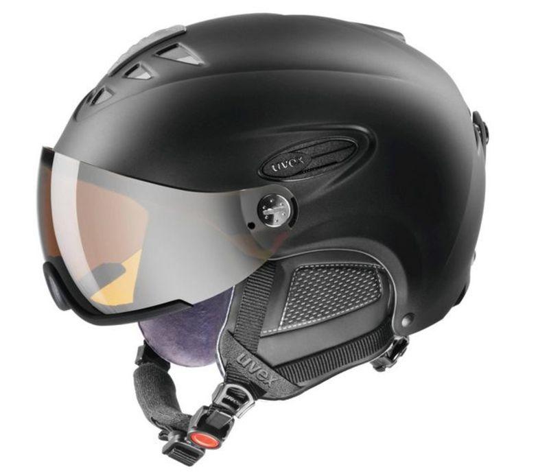 Lyžiarska helma UVEX HLMT 300 VISOR, black mat (S566162220*)
