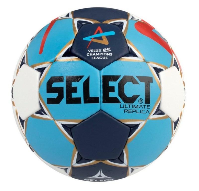 Hádzanárska lopta Select HB Ultimate Replica Champions League Men bielo modrá