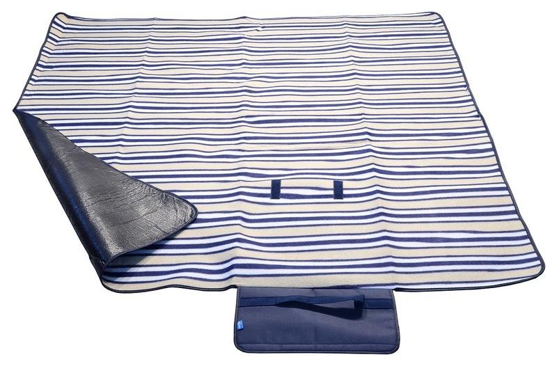 Pikniková deka Cattara FLEECE 150x135cm modrá