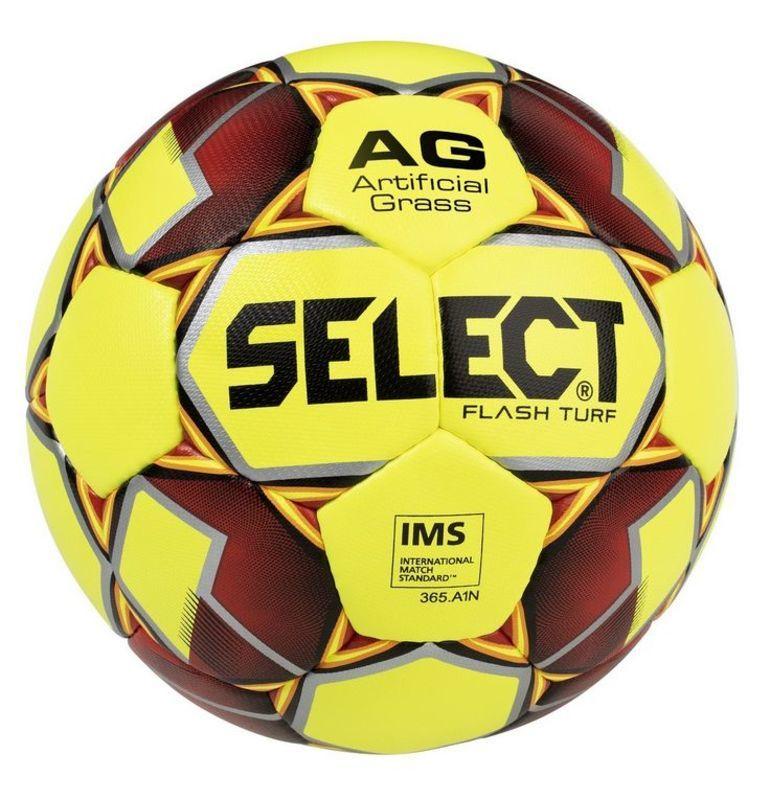 98a584253 Futbalový lopta Select FB Flash Turf žlto červená