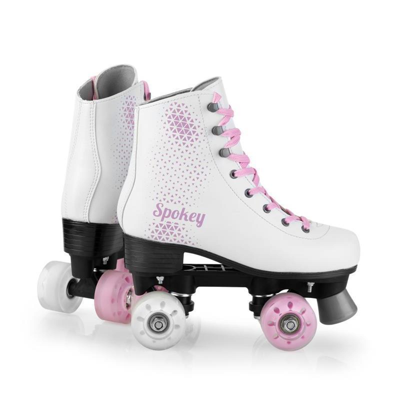 Dámske trekové korčule Spokey Floss ABEC 7, bielo-ružové