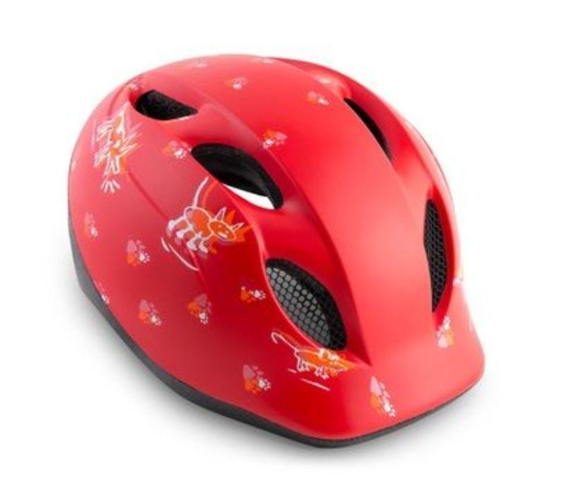 MET helma SUPER BUDDY 2019 detská zvieratká / červená