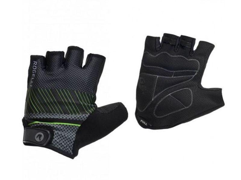 Rukavice na kolo Rogelli RITMO, čierno-šedo-zelené 006.401. XL