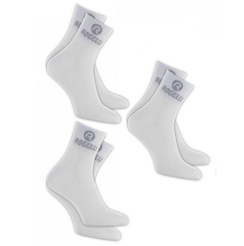 Funkčný ponožky Rogelli PROMO - 3 páry, biele 007.010 XL (44-47)