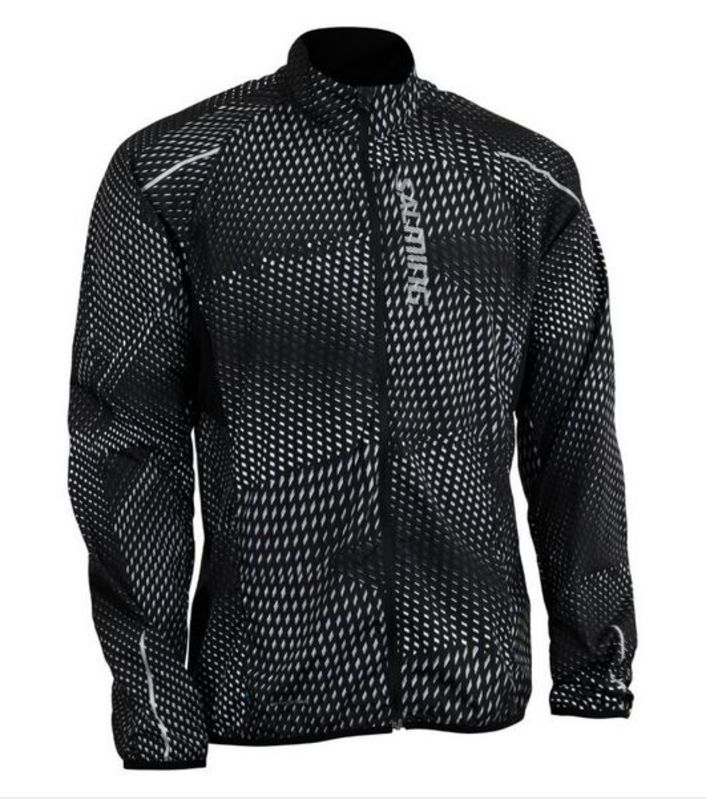 Bunda Salming Ultralite Jacket 3.0 Men Black All Over Print M