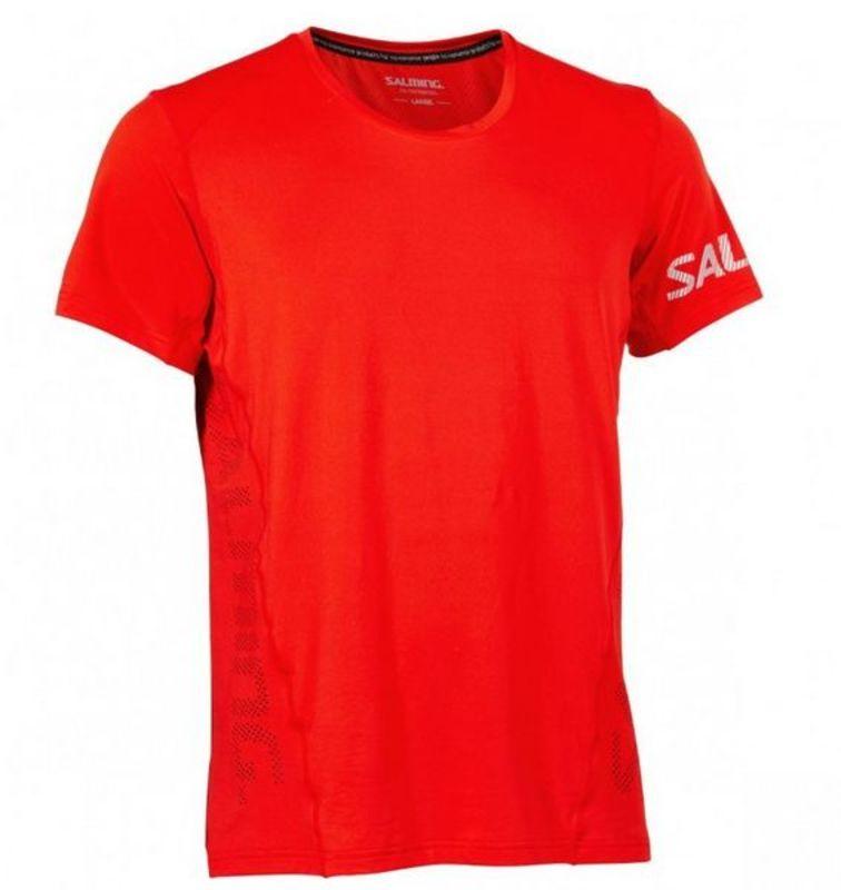 Pánske triko Salming Laser Tee Men Fiery Red XL