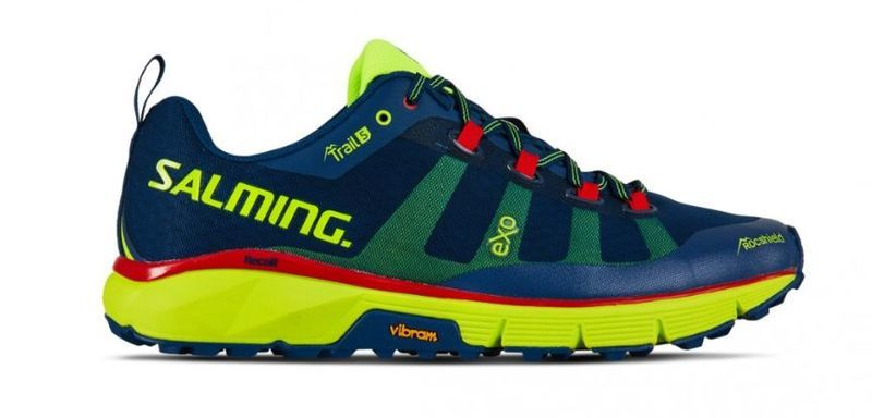 Topánky Salming Salming Trail 5 Men Poseidon Blue / Safety Yellow 13 UK