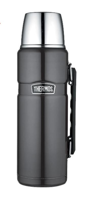 Termoska na nápoje s madlom Thermos Style metalicky sivá 170024