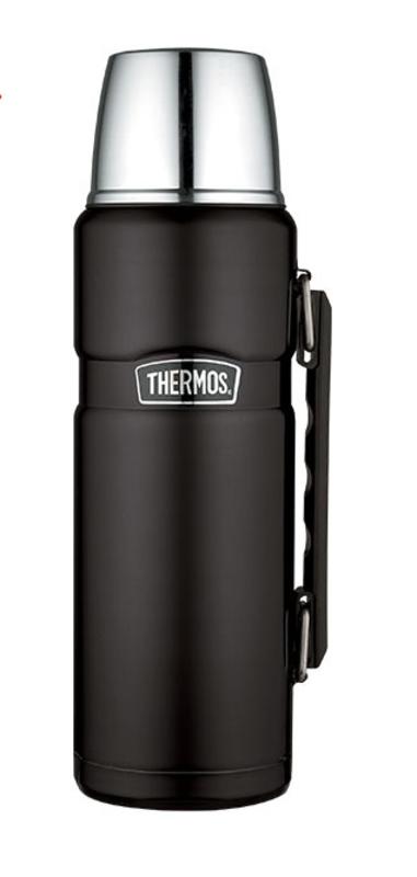Termoska na nápoje s madlom Thermos Style matne čierna 170022