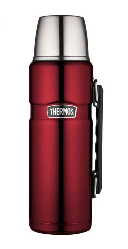 Termoska na nápoje s madlom Thermos Style matne červená 170021