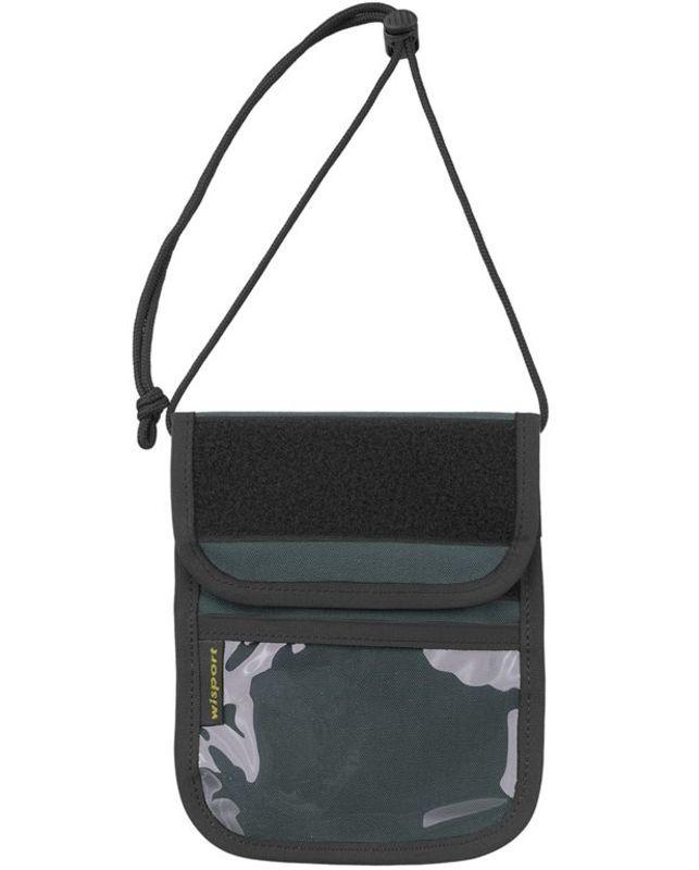Púzdro na doklady - peňaženka na krk Wisport® Patrol - graphite