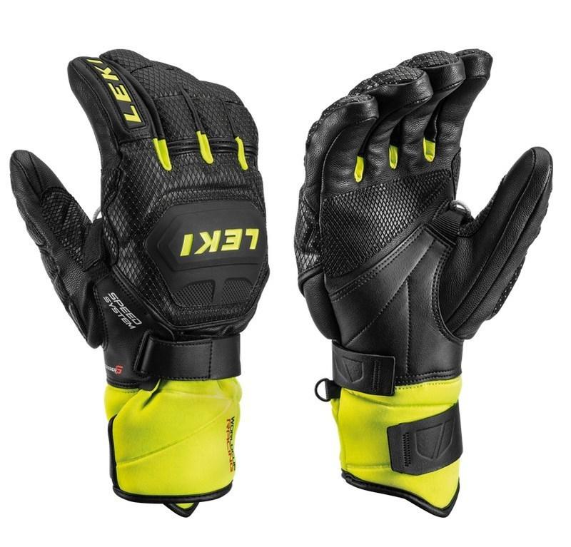 Rukavice LEKI Worldcup Race Flex S Speed System 649802301 black / ice / lemon 8.5