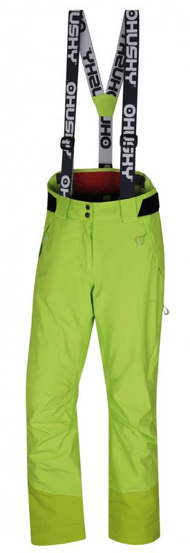 Dámske lyžiarske nohavice Husky Mital L výrazne zelená